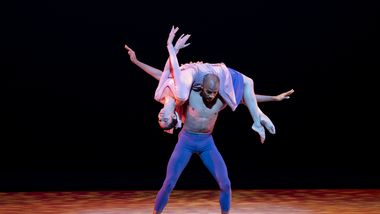 AAADT's Sarah Daley-Perdomo and Yannick Lebrun in Alvin Ailey's The Lark Ascending from Timeless Ailey 60th Anniversary program