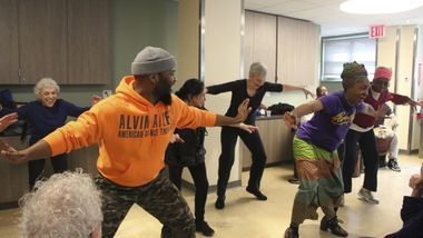 AileyDance for Active Seniors Percussion Lecture Demonstration at Penn South