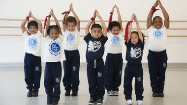 AileyDance Kids from Bronx Charter School for Excellence kindergarten Creative Movement class