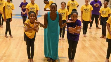 New York AileyCampers and Nasha Thomas