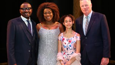 AAADT Artistic Director Robert Battle, Honorary Chair Lorraine Toussaint & daughter Samara Zane, and  Doris Duke Charitable Foundation CEO Ed Henry