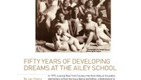 Playbill - Fifty Years Of Developing Dreams At The Ailey School