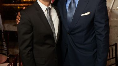 Executive Director Bennett Rink and Board of Trustees President Anthony S. Kendall