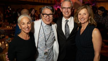Former Executive Director Sharon Luckman, Associate Artistic Director Masazumi Chaya, Executive Director Bennett Rink and Honorary Trustee Simin Allison