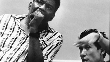 Alvin Ailey and Masazumi Chaya in rehearsal early 80's