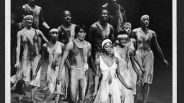 Masazumi Chaya (second row, left) and the Company in Alvin Ailey's Night Creature