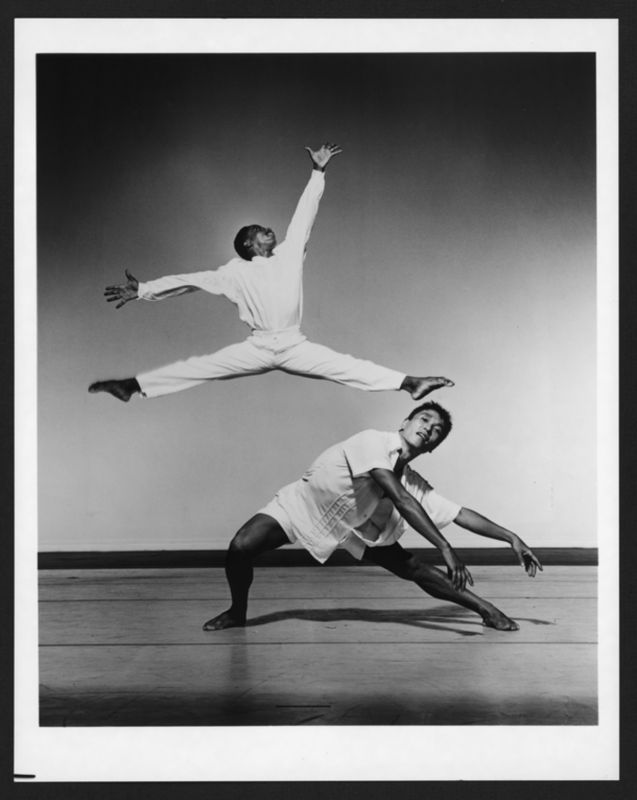 Masazumi Chaya and Ralph Glenmore in Jennifer Muller's Speeds. Photo by Jack Mitchell. (©) Alvin Ailey Dance Foundation, Inc. and Smithsonian Institution