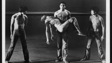 Michihiko Oka, Masazumi Chaya, Keith McDaniel, and Dudley Williams in Donald McKayle's Rainbow 'Round My Shoulder