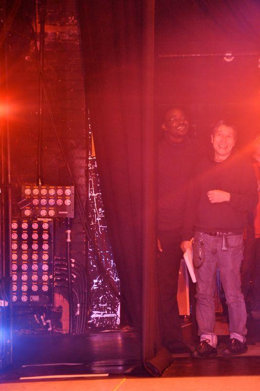 Artistic Director Robert Battle and Associate Artistic Director Masazumi Chaya in the wings