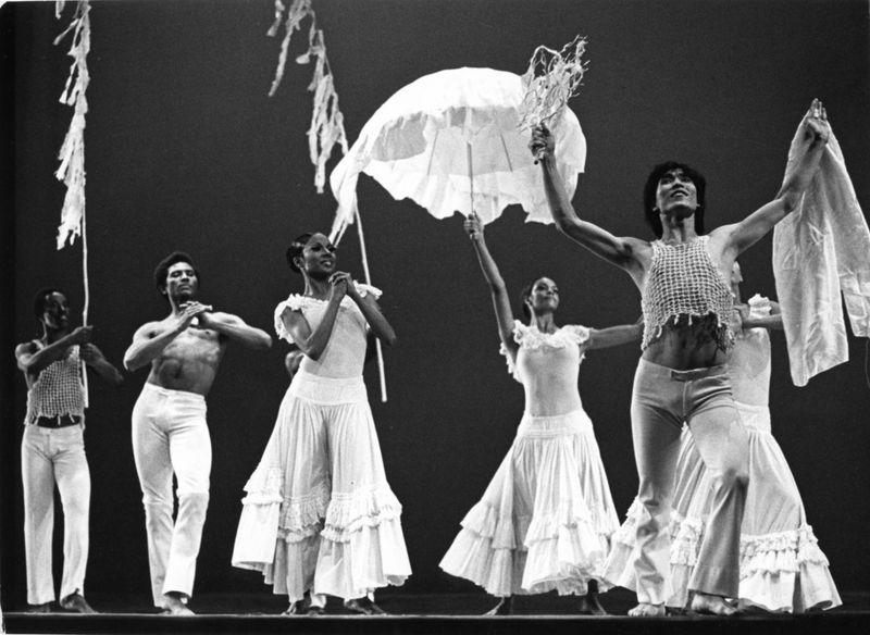 Masazumi Chaya (far right) and the Company in Alvin Ailey's Revelations