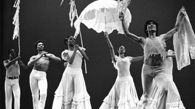 Masazumi Chaya (far right) and the Company in Alvin Ailey's Revelations