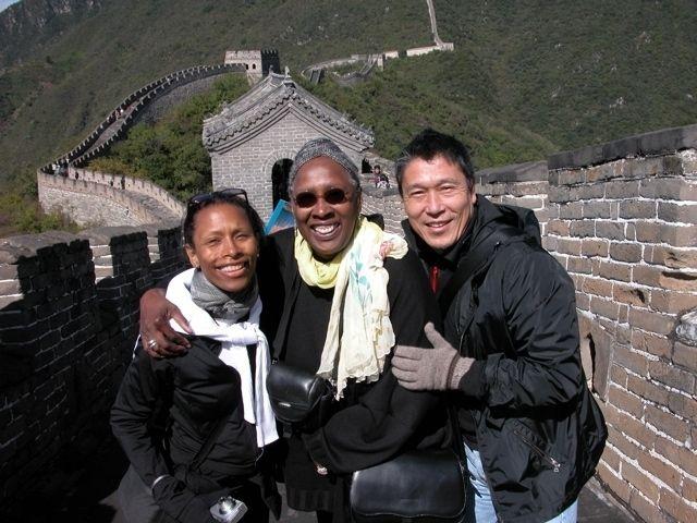 Ronni Favors, Judith Jamison, and Masazumi Chaya at the Great Wall of China in 2004