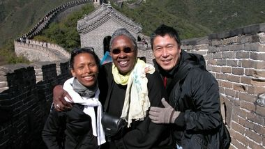 Ronni Favors, Judith Jamison, and Masazumi Chaya at the Great Wall of China in 2004