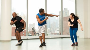 Hip Hop Cardio with Matthew Johnson Harris at Ailey Extension. Photo by Kyle Froman