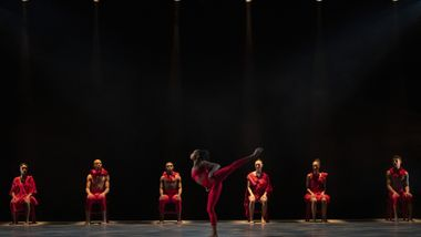 Ailey II in Andrea Miller's Psūkhe. Photo by Nir Arieli