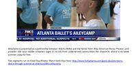 FOX 5 Atlanta - Pre-Teens Dance Through Summer At Atlanta Ballet's Ailey Camp