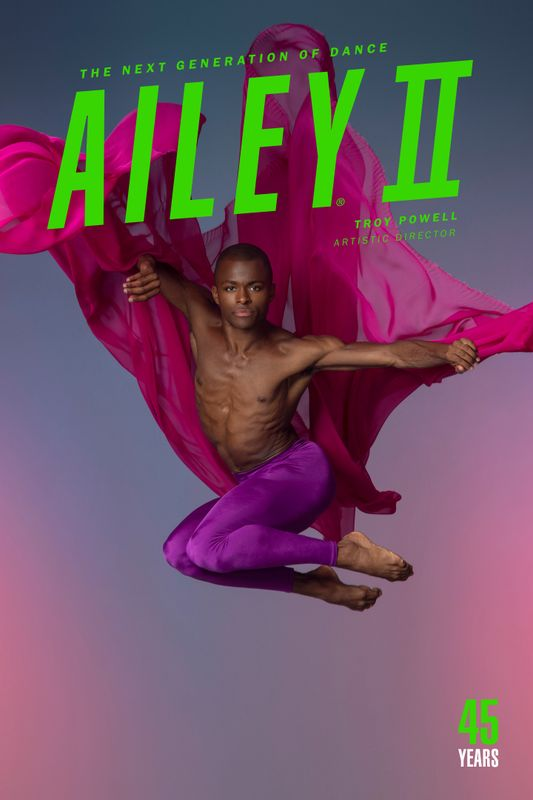 Ailey II 2019-20 Poster Image. Kyle H. Martin. Photo by Nir Arieli