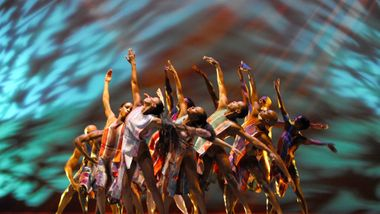Alvin Ailey American Dance Theater in Judith Jamison's Divining. Photo by Nan Melville