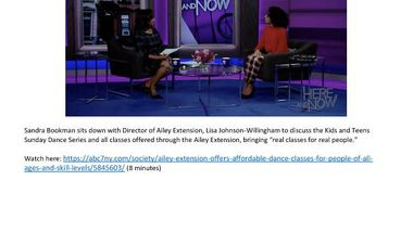 ABC7HereandNow_Extension_LisaJohnson_KidsTeensSundayDanceSeries_Broadcast_1.12.20