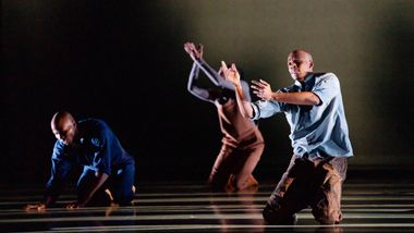 AAADT's Jeroboam Bozeman, Jacqueline Green, and Yannick Lebrun in Camille A. Brown's City of Rain