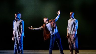 AAADT's Solomon Dumas, Jerboam Bozeman , Patrick Coker and YannickLebrun in Camille A. Brown's City of Rain