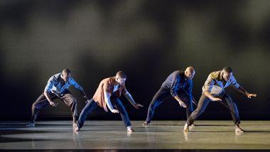 AAADT's Yannick Lebrun, Patrick Coker, Jeroboam Bozeman and Solomon Dumas in Camille A. Brown's City of Rain
