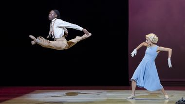 Alvin Ailey American Dance Theater's Chalvar Monteiro and Danica Paulos in Donald Byrd's Greenwood