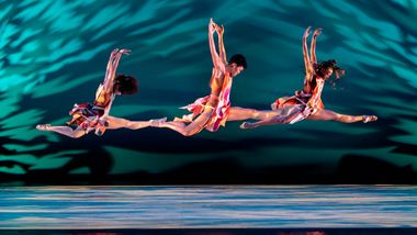 Alvin Ailey American Dance Theater's Belen Indhira Pereyra, Ghrai DeVore-Stokes and Samantha Figgins in Judith Jamison's Divining
