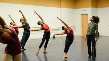 Lisa Johnson-Willingham leads Ailey Experience in Atlanta. Photo by Shoccara Marcus