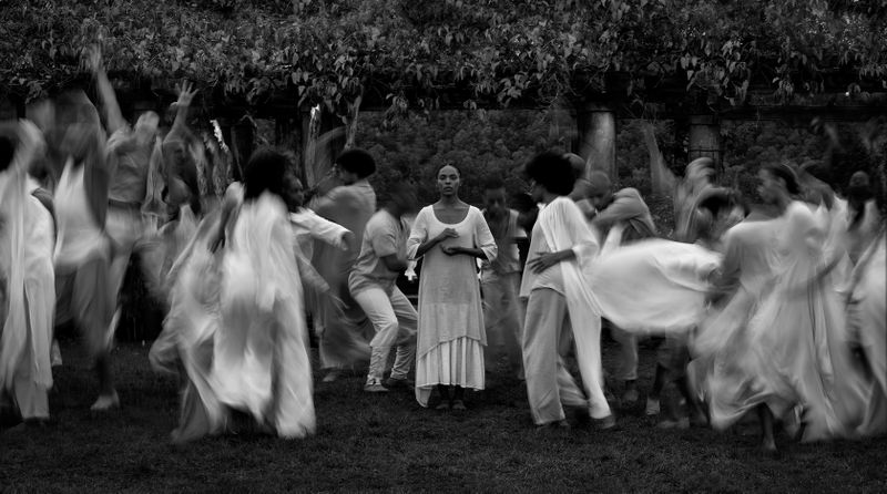 Alvin Ailey American Dance Theater in Testament by Matthew Rushing Clifton Brown and Yusha-Marie Sorzano at Wave Hill Public Garden and Culture Center
