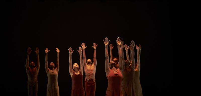 Alvin Ailey American Dance Theater in a reimagining of Alvin Ailey's Revelations at The Ailey Citigroup Theater