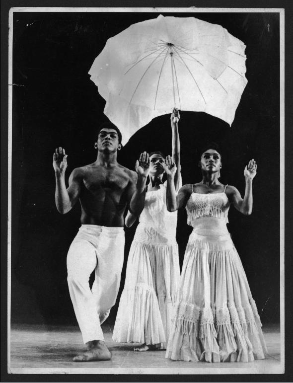 Alvin Ailey, Lucinda Ransom, and Loretta Abbott in Alvin Ailey's Revelations