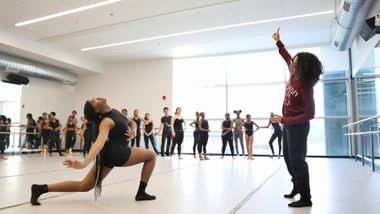 Lisa Johnson-Willingham leads Horton at Ailey Experience in DC 2020. Photo by Jonathan Hsu