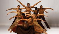 Alvin Ailey American Dance Theater in Alvin Ailey's Revelations.  Photo by Andrew Eccles