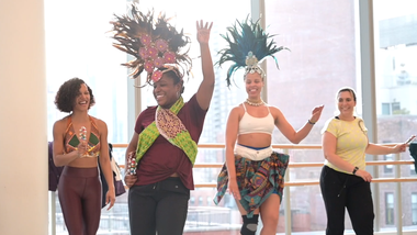 Celebrating Brasilian Carnaval Workshop at Ailey Extension. Photo by Coal Rietenbach