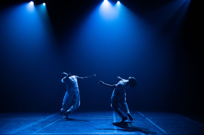 Alvin Ailey American Dance Theater's Chalvar Monteiro and Jacquelin Harris in Resident Choreographer Jamar Roberts' Holding Space