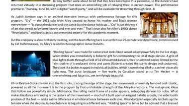 SanFranciscoChronicleDatebook_AAADT_BerkeleyCA_CalPerformancesAtHome_Feature_Review_6.10.21