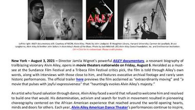 AILEY Documentary National Release