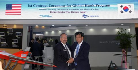 Korea's Unmanned Systems Suppliers Produce Global Hawk Components