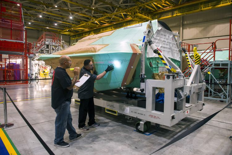 AX-5 Center Fuselage - Final Quality Inspection