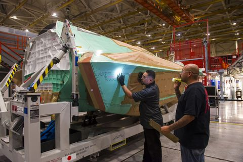 AX-5 Center Fuselage - Preparation for Delivery