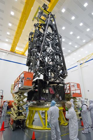 Photo Release -- Northrop Grumman Delivers Telescope Structure for NASA's James Webb Space Telescope