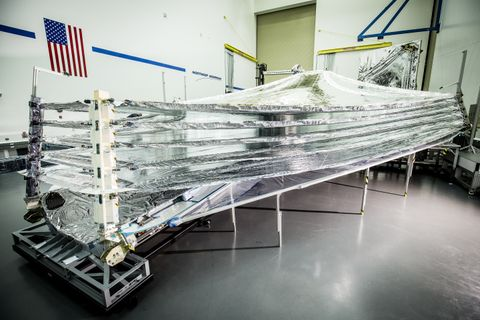 Photo Release -- First Sunshield Layer Completed for NASA's James Webb Space Telescope