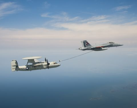 Photo Release -- Northrop Grumman, U.S. Navy Successfully Conduct E-2D Advanced Hawkeye Aerial Refueling Critical Design Review