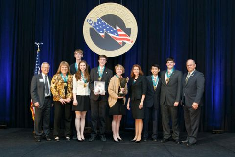 Photo Release -- Northrop Grumman Awards Scholarships to CyberPatriot VII Winners