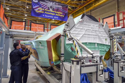 Delivery of First Norwegian F-35 Center Fuselage (a)