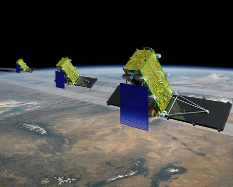 RADARSAT Constellation Mission satellites
