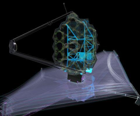 JWST Backplane Support Frame Diagram