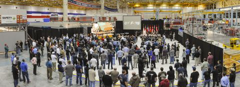 100th Fuselage Ceremony