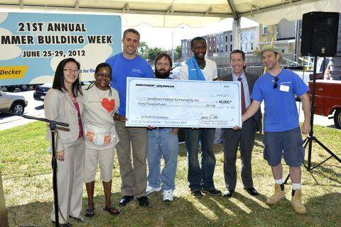 Northrop Grumman Donates $40,000 to Sponsor Sandtown Habitat